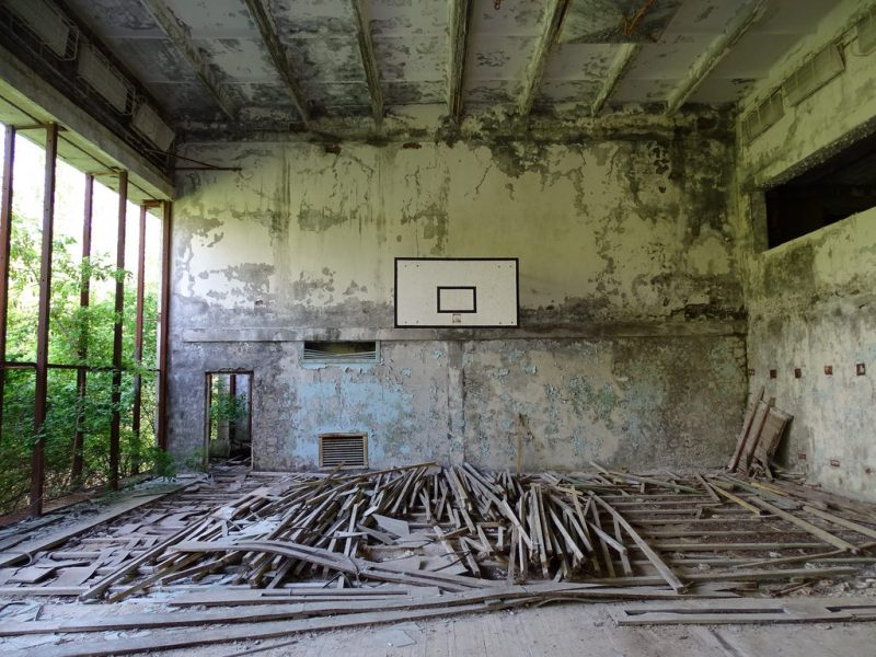 Basketball ground Chernobyl